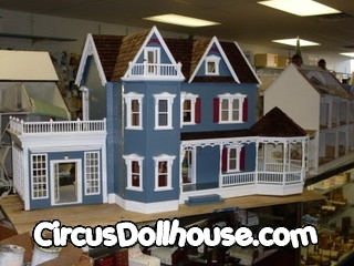Harborside Mansion Dollhouse With An Attached Conservatory