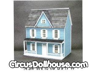 Victorian Farmhouse Kit Half Inch Scale Circus Dollhouse