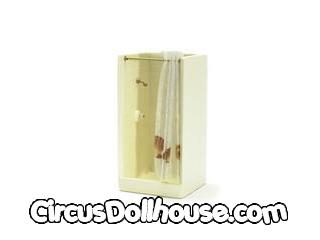 Square Shower Stall Wh Cb Circus Dollhouse